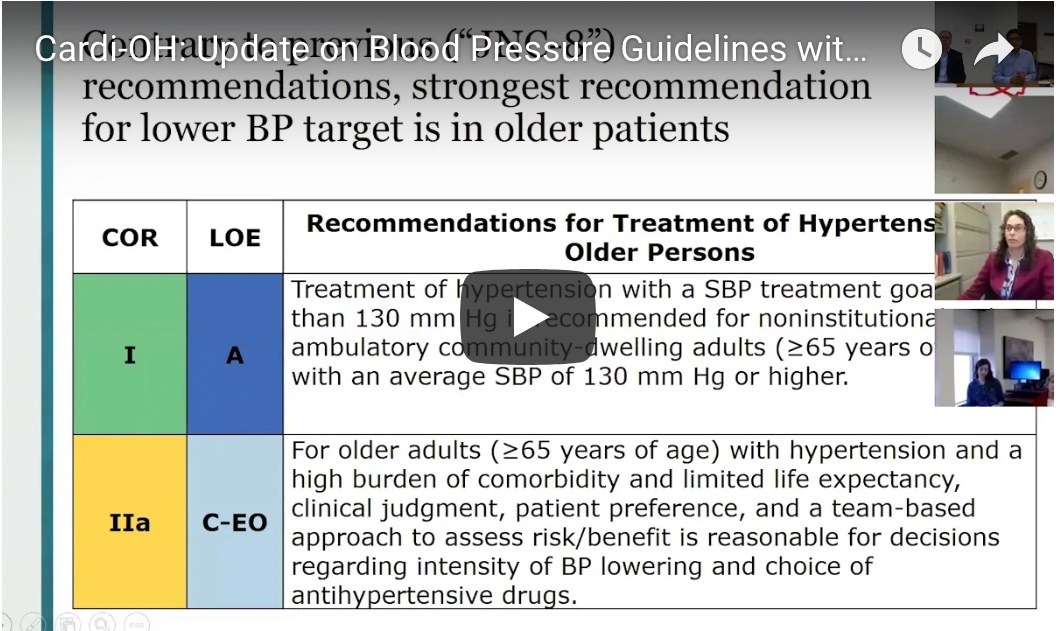 Update on Blood Pressure Guidelines